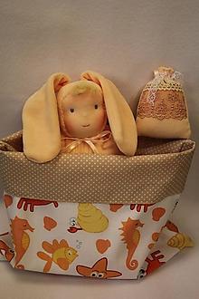 Hračky - waldorfská panenka měkký zajíček - 10370338_