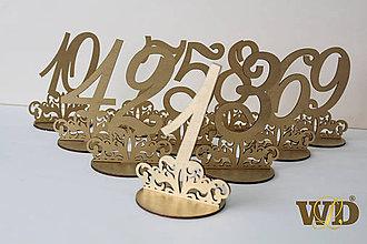 Dekorácie - Čísla na stoly - 10368952_