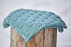 Textil - Staro-modrá detská deka-prikrývka - 10366434_