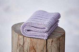 Textil - Detská deka fialová - 10370352_