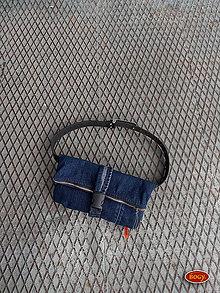 Kabelky - 2v1 riflová kapsa, recy šmudltaška či ledvinka - zero waste - 10368607_