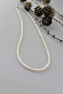 Náhrdelníky - perly náhrdelník - pravá perla A kvalita - 10369844_