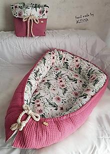 Textil - Hniezdo pre bábätko z vafle bavlny - 10368836_