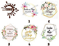 Darčeky pre svadobčanov - Svadobné čokoládky Geométrica - 10370730_
