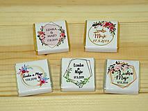 Darčeky pre svadobčanov - Svadobné čokoládky Geométrica - 10370733_
