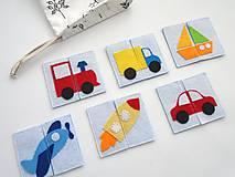 Hračky - Montessori pexeso: dopravné prostriedky (6 párov) - 10366458_