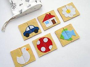 Hračky - Montessori pexeso: detský svet (6 párov) - 10366471_