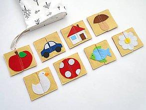 Hračky - Montessori pexeso: detský svet (8 párov) - 10366479_