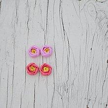 Náušnice - jarné púčiky I. - napichovačky chirurgická oceľ - 10368947_