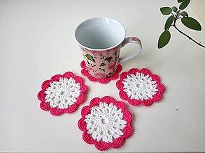 Pomôcky - Podšálky ružové - 10368081_