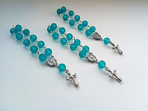 Iné šperky - Ruženec - modrý - 10367831_