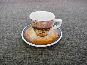 Nádoby - porcelánová šálka maľovaná - 10370794_