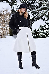 Sukne - vlnená elegantná sukňa - 10366638_