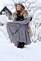- asymetrická zavinovacia sukňa (iná látka - na želanie) - 10367337_