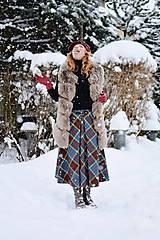 Sukne - midi sukňa s prackou - 10367599_