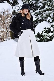 Sukne - vlnená elegantná sukňa (Béžová) - 10366638_
