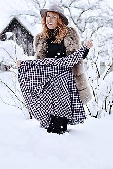 Sukne - asymetrická zavinovacia sukňa (iná látka - na želanie) - 10367337_