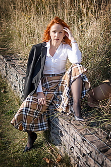 Nohavice - sukňovice zo škótskeho kára