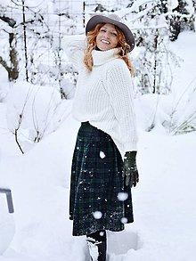 """Sukne - NORRIE - skladaná sukňa """"škótske káro"""" - 10367764_"""
