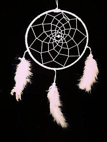 Dekorácie - Veľký biely lapac snov - 10367396_