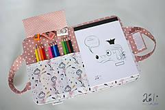 Detské tašky - Detský kufrík - pastelkovník Baletky na bielom - 10369176_