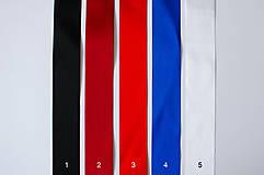 Opasky - Folk opasok 5,5 cm obojstranný (Bielo - čierny opasok s červenou stuhou (obvod pásu do 80 cm)) - 10370688_