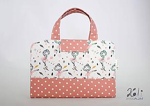 Detské tašky - Detský kufrík - pastelkovník Baletky na bielom - 10369175_