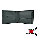Tašky - Ochranná pánska kožená peňaženka v čiernej farbe - 10369542_