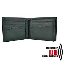 Tašky - Ochranná pánska kožená peňaženka v čiernej farbe - 10369517_