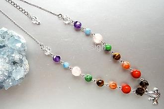 Náhrdelníky - Čakrový náhrdelník - 10369539_