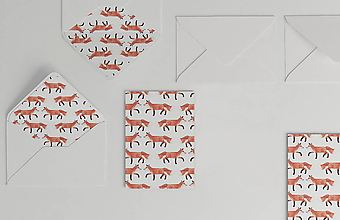 Papiernictvo - Vianočná akvarelová pohľadnica | ilustrácia Jeleňa a líšky  (Líška hrdzavá) - 10369303_