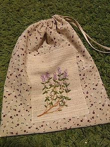 Úžitkový textil - Vrecko na bylinky (Materina dúška) - 10369274_
