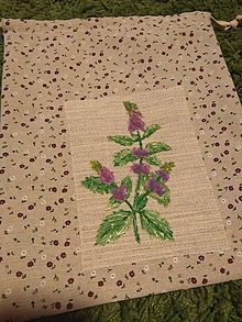 Úžitkový textil - Vrecko na bylinky (Mäta) - 10369281_