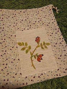 Úžitkový textil - Vrecko na bylinky (Šípka) - 10369293_