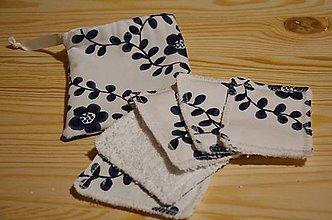 Úžitkový textil - Zero Waste odličovacie tampóny - sada (Kvety) - 10370492_