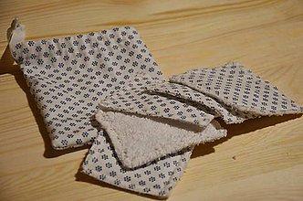 Úžitkový textil - Zero Waste odličovacie tampóny - sada (Kvietky) - 10370494_