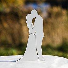 Dekorácie - Zápich do torty - Manželský pár - 10368227_
