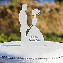 Dekorácie - zápich do torty - Manželský pár 2 - 10368332_