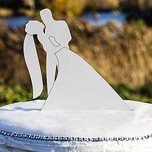 Dekorácie - Zápich do torty - Manželský pár 4 - 10368398_