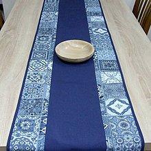 Úžitkový textil - NAVY (1) - stredový obrus - 10366825_