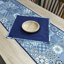 Úžitkový textil - NAVY (2) - stredový obrus 135x44 - 10367366_
