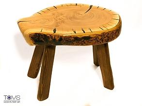 Nábytok - Taburetka z čerešňového dreva a živice - 10369571_