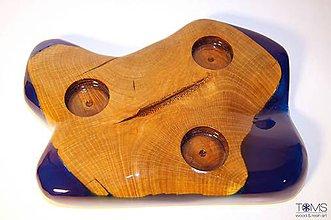 Svietidlá a sviečky - Svietnik z bukového dreva - 10369883_