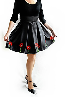 Sukne - Dámska spoločenská sukňa makovičky - 10370617_