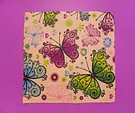Úžitkový textil - Voskovaný obrúsok - Motýle - 10370174_