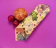 Úžitkový textil - Voskovaný obrúsok - Motýle - 10370175_