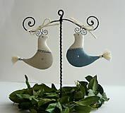 Dekorácie - stojan s vtáčikmi - 10369860_