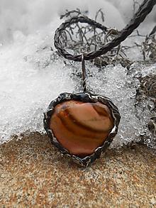 Náhrdelníky - Dúhové srdce - 10367206_