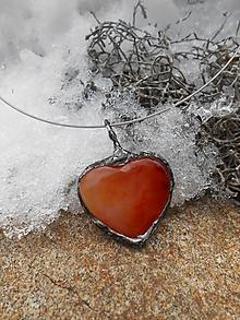 Náhrdelníky - Oheň v srdci - 10367224_