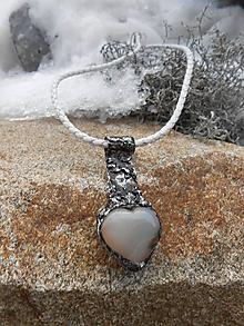 Náhrdelníky - Srdcový kľúč - 10367301_
